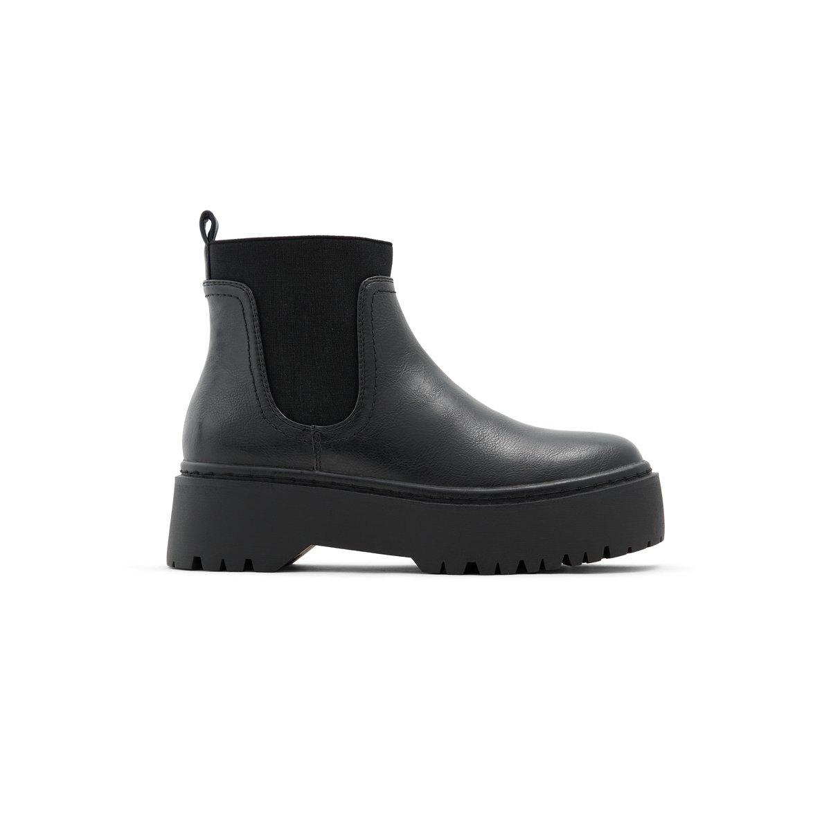 Flatform Black Women's Chelsea Boots